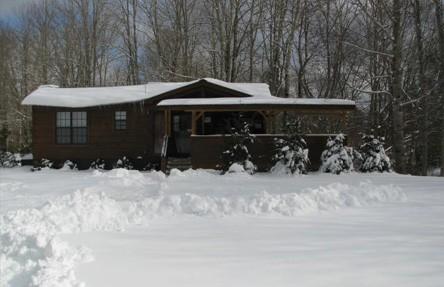 "Permalink to: ""Let It Snow"" Cozy Vacation Log Cabin Rental"