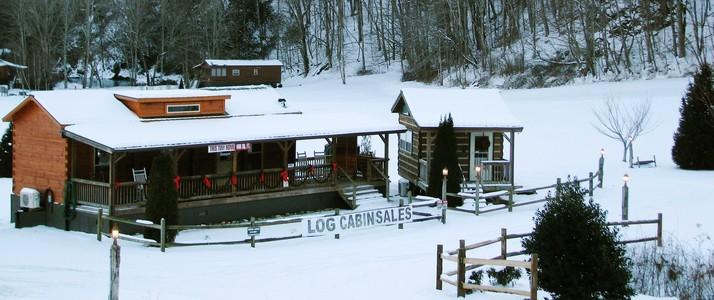 Linville River Log Cabin Entrance
