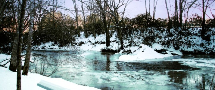 River View from Off The Map Cabin - Winter 2017