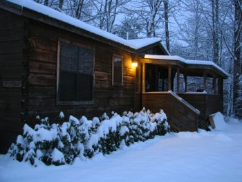 """Permalink to: """"Let It Snow"""" Cozy Rental Cabin"""