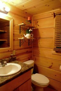 Mtn River Log Cabin - Bathroom