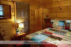 Mtn River Log Cabin - Bedroom #2