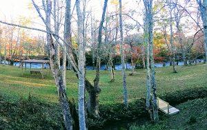 Mtn River Log Cabin - Front porch