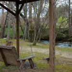 Linville River Log Cabins Relaxing Swing
